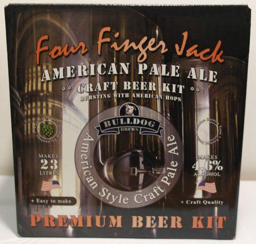 Bulldog Brews Four Finger Jack American Pale Ale.