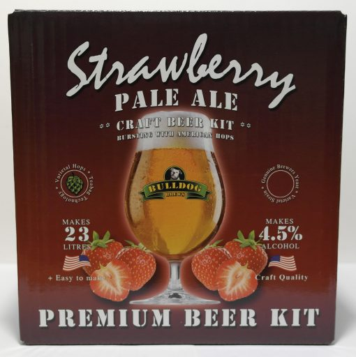 Bulldog Brews Strawberry Pale Ale.